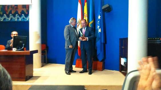 Entrega del premio a Pablo Junceda